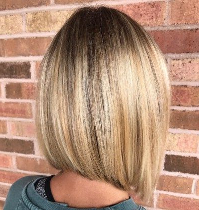 Pin On Different Haircuts Intended For Blunt Cut Blonde Balayage Bob Hairstyles (View 4 of 25)