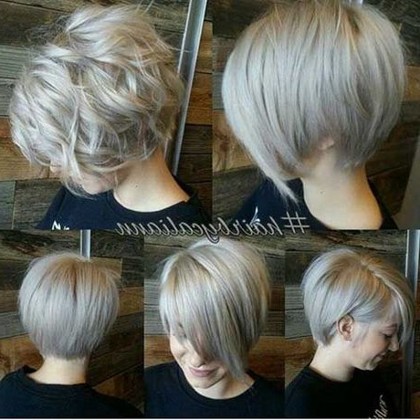 Featured Photo of Half Bob Half Pixie Hairstyles With Cool Blonde Balayage