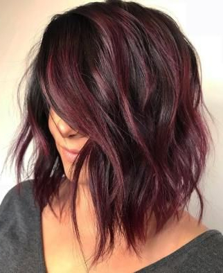 Pin On Hair Styles Throughout Burgundy Balayage On Dark Hairstyles (View 24 of 25)