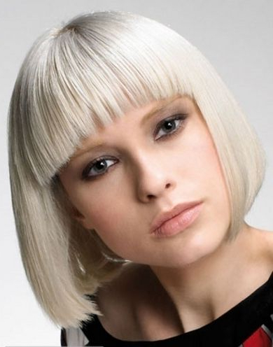 Pin On Hair With Regard To Blunt Bob Hairstyles With Face Framing Bangs (View 24 of 25)