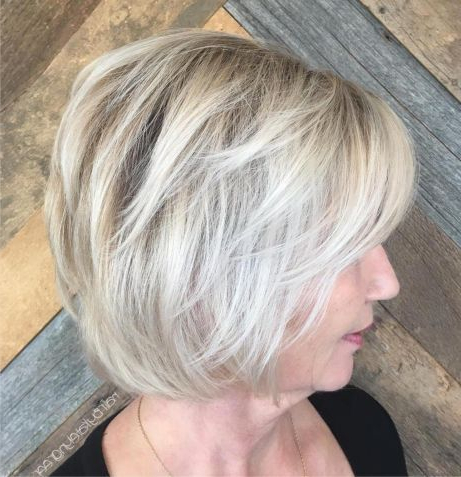 Pin On Hair Within Ash Blonde Balayage For Short Stacked Bob Hairstyles (View 12 of 25)