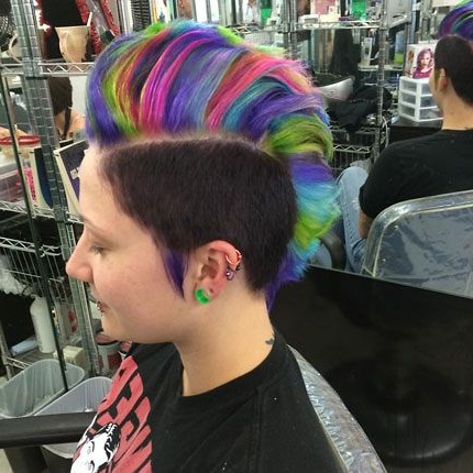 Pin On Haircolor: Fashion Colors Intended For Most Up To Date Coral Mohawk Hairstyles With Undercut Design (View 11 of 25)