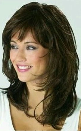 Pin On Hairstyles With Regard To Full Fringe And Face Framing Layers Hairstyles (View 22 of 25)
