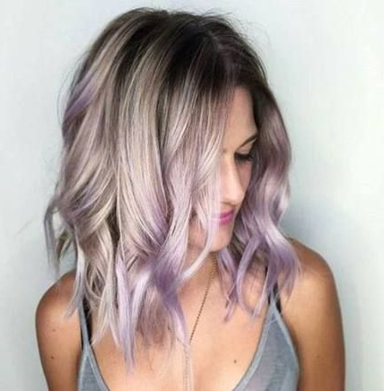 Pin On Lavender Hair In Subtle Balayage Highlights For Short Hairstyles (View 17 of 25)