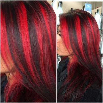 Pin On Red Hair Color In Bright Red Balayage On Short Hairstyles (View 2 of 25)