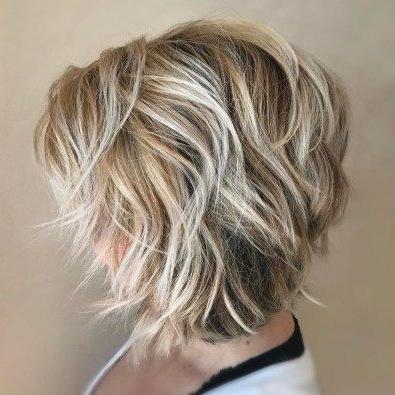 Pin On Short Haircuts Inside Warm Balayage On Short Angled Haircuts (View 8 of 25)