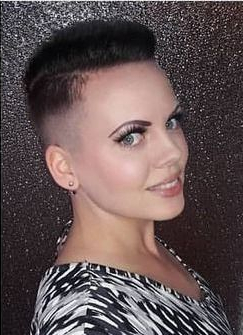 Pin On Short Kutz With Half Bob Half Pixie Hairstyles With Cool Blonde Balayage (View 21 of 25)
