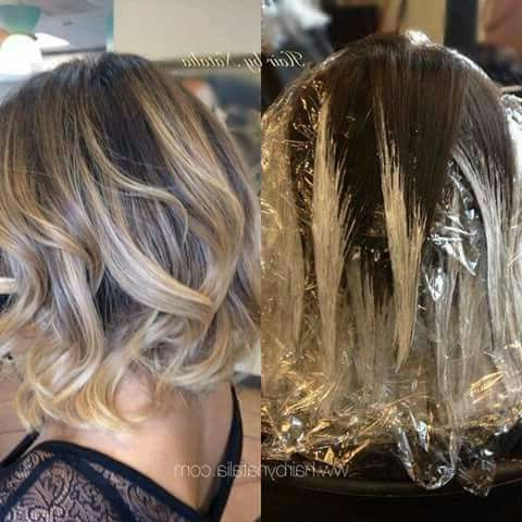 Pinayreen Lugo On Belleza | Hair Styles, Short Hair Within Warm Balayage On Short Angled Haircuts (View 12 of 25)