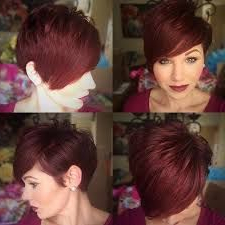 Pindanielle Pfund On Hair | Short Hair Styles, Hair Intended For Pixie Hairstyles With Red And Blonde Balayage (View 7 of 25)