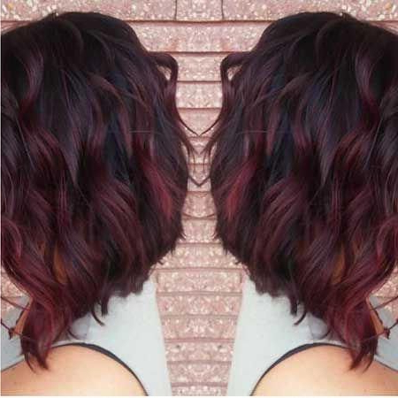 Pin??????? On Hair | Burgundy Hair, Best Ombre Hair With Regard To Burgundy Balayage On Dark Hairstyles (View 9 of 25)