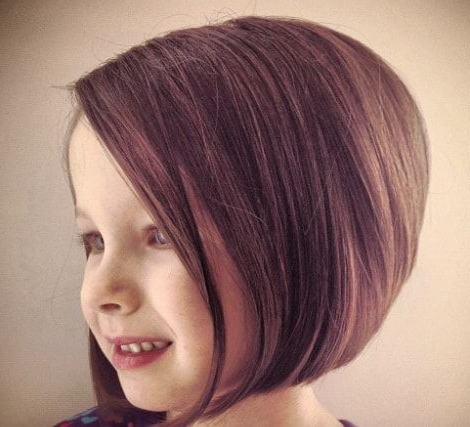 Pinjamie Sokolosky On Cool Haircuts   Little Girl Bob With Regard To Cool Toned Angled Bob Hairstyles (View 6 of 25)