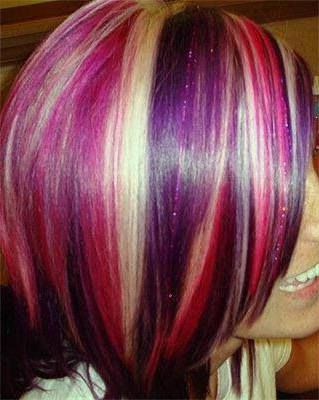 Pink Purple And Blonde Stripes (View 18 of 25)