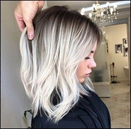 Platinum Shoulder Length Long Bob Haircut Hairstyle (View 3 of 25)