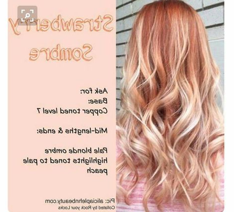 Pretty Color | Blonde Hair With Bangs, Ombre Hair Blonde With Regard To Marsala To Strawberry Blonde Ombre Hairstyles (View 19 of 25)