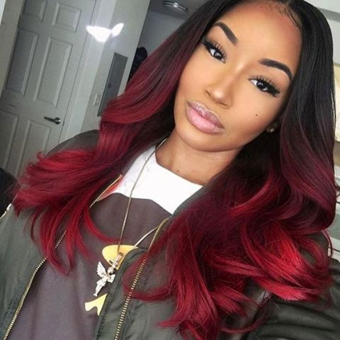 Quick Weave Hairstyles – Latest Hairstyle In 2020 With Regard To Bright Red Balayage On Short Hairstyles (View 12 of 25)