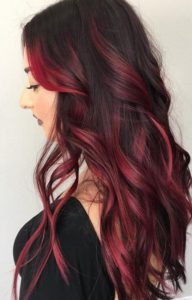 Red Highlights Ideas For Blonde, Brown And Black Hair In Natural Brown Hairstyles With Barely There Red Highlights (View 7 of 25)