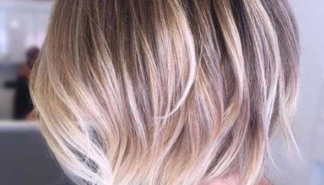 Remarkable Pics Of Trendy Short Hairstyles For Women Within Lavender Balayage For Short A Line Haircuts (View 21 of 25)