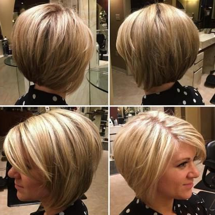 Rounded Bronde Bob With Layers | Short Thin Hair, Bob In Bronde Balayage For Short Layered Haircuts (View 22 of 25)