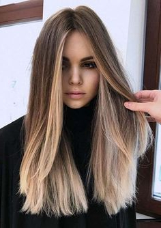 Sensational Combination Of Long Hairstyles And Colors In Within Long Pixie Hairstyles With Dramatic Blonde Balayage (View 5 of 25)