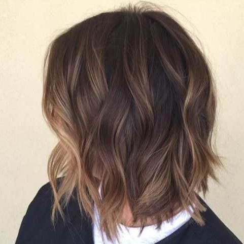 Shaggy Brown Bob With Subtle Balayage Highlights | Hair Within Shaggy Bob Hairstyles With Face Framing Highlights (View 20 of 25)