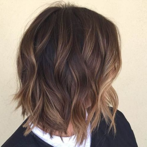 Shaggy Brown Bob With Subtle Balayage Highlights | Short In Shaggy Bob Hairstyles With Face Framing Highlights (View 13 of 25)