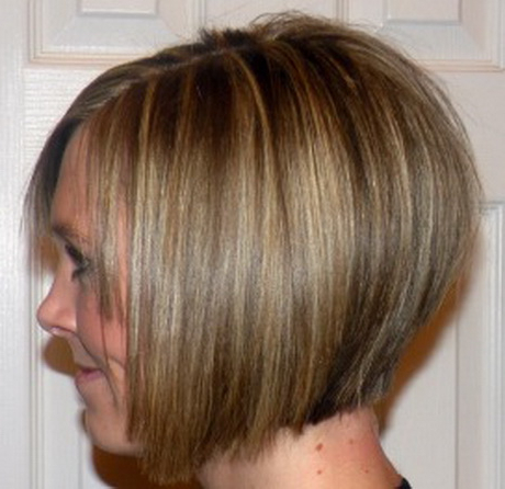 Short A Line Haircuts Regarding Balayage For Short Stacked Bob Hairstyles (View 13 of 25)