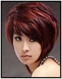 Short Bob Photos With Chocolate Lowlights In Gray Hair Intended For Short Hairstyles With Delicious Brown Coloring (View 17 of 25)