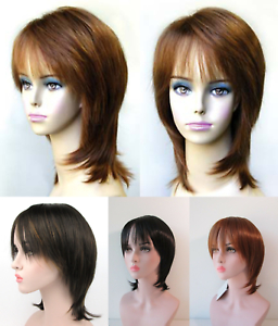 Short Mid Length Straight Hair Face Framing Layered Shag Throughout Shaggy Bob Hairstyles With Face Framing Highlights (View 14 of 25)