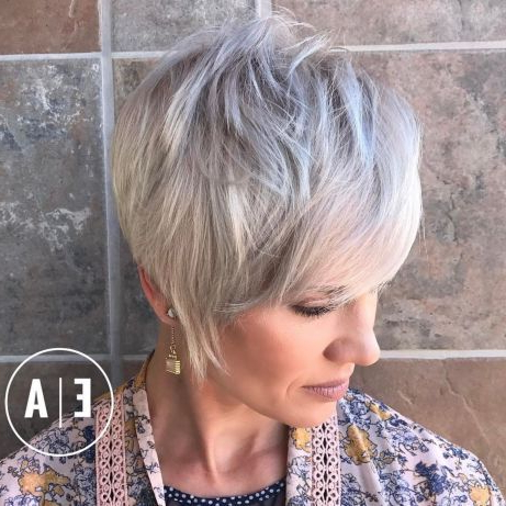 Short Pixie Long In Front | Long Pixie Hairstyles, Longer For Long Pixie Hairstyles With Dramatic Blonde Balayage (View 19 of 25)