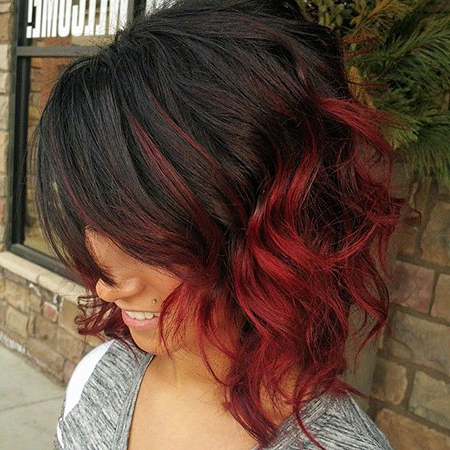 Short Red Hair Color Ideas Regarding Pixie Hairstyles With Red And Blonde Balayage (View 5 of 25)