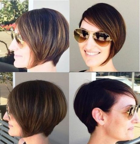 Short Stacked Bob For Thin Hair In 2020   Graduated Bob Regarding Balayage For Short Stacked Bob Hairstyles (View 3 of 25)