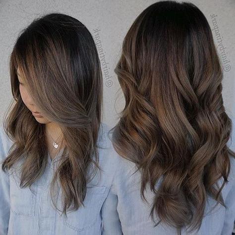 Smokey Brown/ Ashy Brown Balayage!! | Brown Balayage Regarding Subtle Balayage Highlights For Short Hairstyles (View 2 of 25)