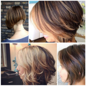 Stacked Bob Hairstyle – 2021 Haircuts, Hairstyles And Hair Throughout Balayage For Short Stacked Bob Hairstyles (View 2 of 25)