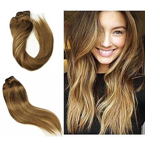 Stella Reina 120G/7Pcs Clip In Hair Extensions Subtle Throughout Subtle Balayage Highlights For Short Hairstyles (View 12 of 25)