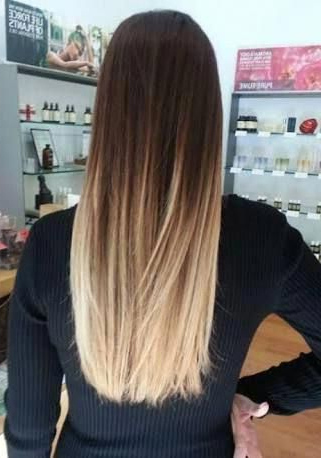 Straight Balayage Waves #Straightbalayagewaves | Ombre Throughout Beachy Waves Hairstyles With Balayage Ombre (View 17 of 25)