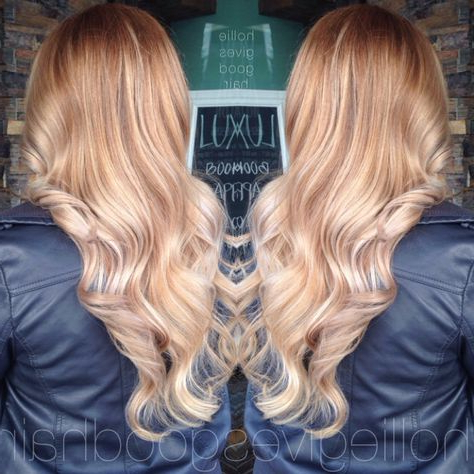 Strawberry Blonde Balayage | Hair Styles, Long Blonde Hair In Strawberry Blonde Balayage Hairstyles (View 13 of 25)