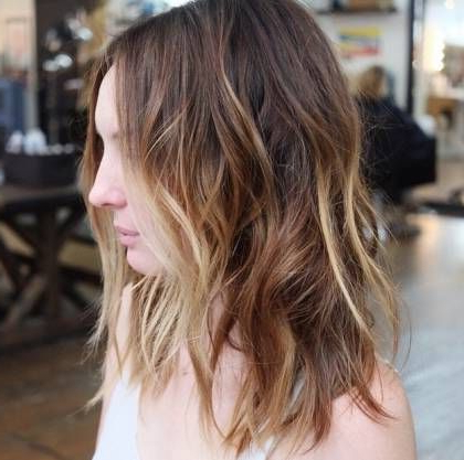Style A Curly Hair With Your Flat Iron   Choppy Bob Within Cinnamon Balayage Bob Hairstyles (View 5 of 25)