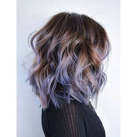 Summer Hairstyles : Dusky Lavender Ombre Metallic Hair Intended For Lavender Balayage For Short A Line Haircuts (View 12 of 25)