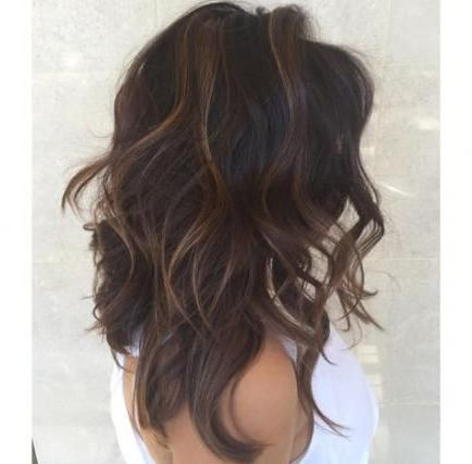 Super Hair Dark Chocolate Medium Lengths Ideas | Dark Regarding Short Brown Balayage Hairstyles (View 4 of 25)