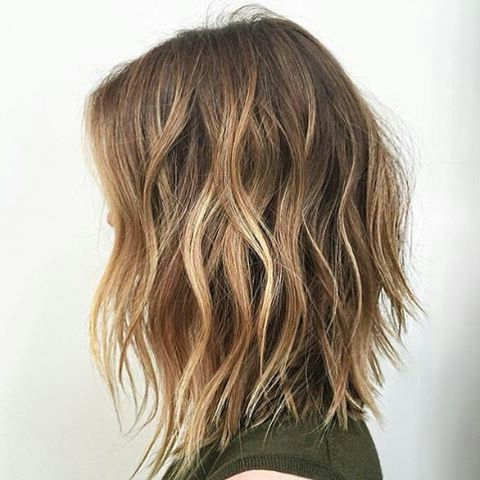 Texture Lob … | Thick Hair Styles, Short Hairstyles For Intended For Lob Hairstyles With Face Framing Layers (View 17 of 25)
