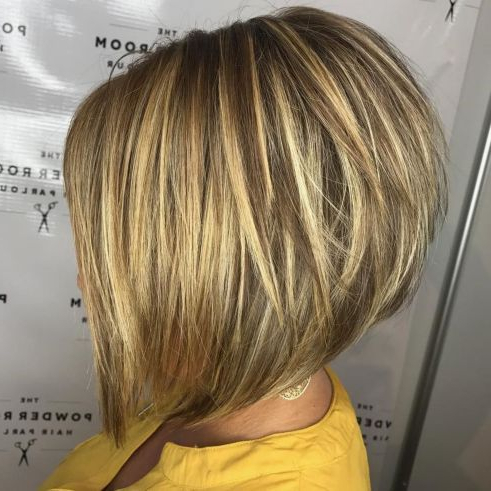 The Full Stack: 50 Hottest Stacked Haircuts   Stacked Within Ash Blonde Balayage For Short Stacked Bob Hairstyles (View 5 of 25)