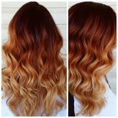 Top 35 Warm And Luxurious Auburn Hair Color Styles Inside Dimensional Dark Roots To Red Ends Balayage Hairstyles (View 3 of 25)