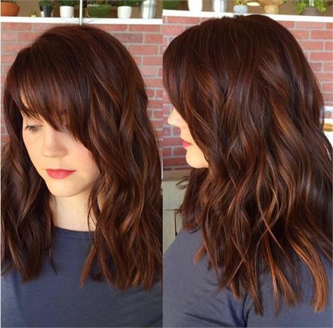 Top 35 Warm And Luxurious Auburn Hair Color Styles With Regard To Chestnut Short Hairstyles With Subtle Highlights (View 6 of 25)