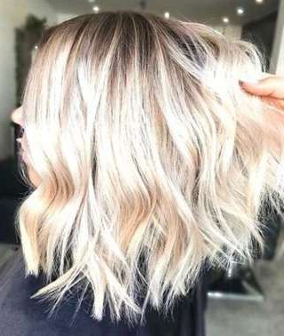 Trendy Hair Wavy Beach Long Bobs 56+ Ideas | Platinum Inside Beachy Waves Hairstyles With Balayage Ombre (View 16 of 25)