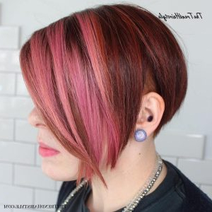 Two Tone A Line Bob – 40 Bold And Gorgeous Asymmetrical Pertaining To Cool Toned Angled Bob Hairstyles (View 2 of 25)