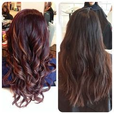 Violet Magenta Sun Kissed Balayage On Dark Base Hair With Short Sun Kissed Hairstyles (View 12 of 25)
