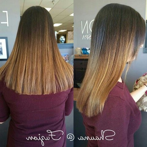 Warm Balayage Ombre @Shaunaatfuzion (With Images) | Long Intended For Warm Balayage On Short Angled Haircuts (View 21 of 25)
