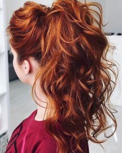 Easy High Pony Hairstyles For Curly Hair