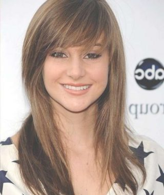Layered Medium Haircuts With Side Bangs