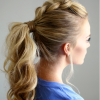 Lattice-Weave With High-Braided Ponytail (Photo 2 of 15)